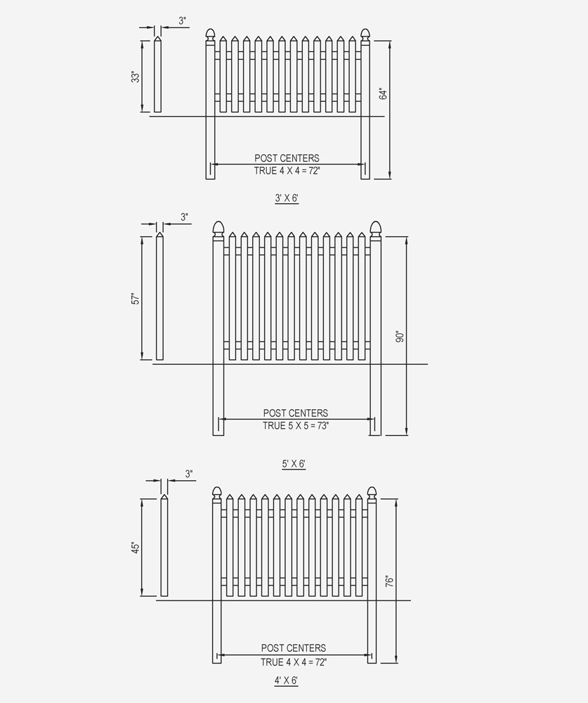 Bufftech Cape Cod Traditional Vinyl Fence Liw Rail And